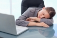 Young businesswoman sleeping